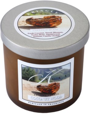 Kringle Candle Coconut Wood vela perfumada   pequeño