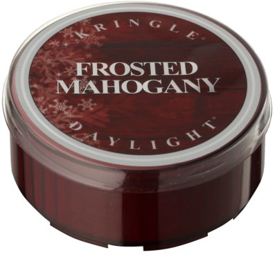 Kringle Candle Frosted Mahogany Teelicht