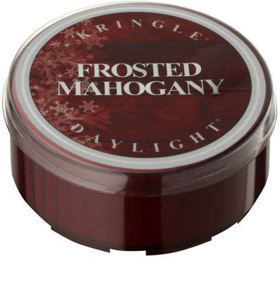 Kringle Candle Frosted Mahogany Чаена свещ