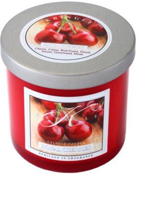 Kringle Candle Royal Cherries vela perfumado  pequeno