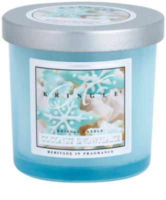 Kringle Candle Coconut Snowflake vela perfumado
