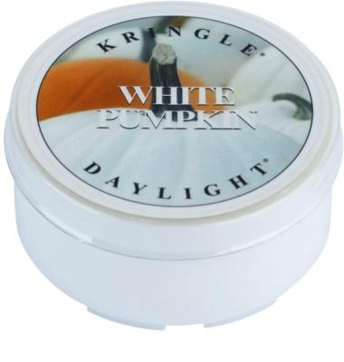 Kringle Candle White Pumpkin vela do chá