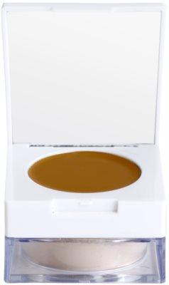Kryolan Dermacolor Camouflage System base de maquilhagem corretora compacta + pó de fixação suave