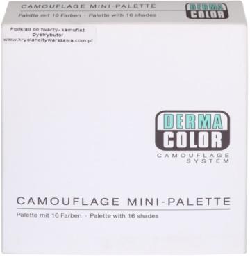 Kryolan Dermacolor Camouflage System mini paleta kremastih korektorjev z visokim prekrivanjem 16 barv 2