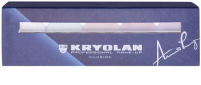 Kryolan Basic Face & Body paleta cu 5 nunate de corectoare pentru fata si corp cu oglinda si aplicator 2