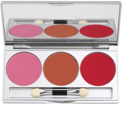 Kryolan Basic Face & Body paleta tvářenek 3 barev