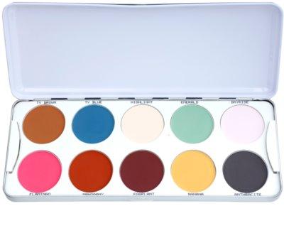 Kryolan Basic Eyes paleta de sombras de ojos 10 colores