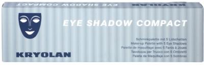 Kryolan Basic Eyes Palette mit 5 Lidschatten 2