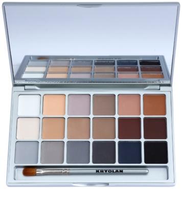 Kryolan Basic Eyes paleta de sombra de olhos 18 cores