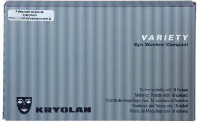 Kryolan Basic Eyes paleta senčil za oči 18 barv 2