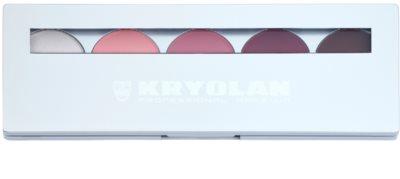 Kryolan Basic Eyes Palette mit 5 Lidschatten  inkl. Spiegel und Pinsel 1