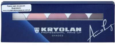 Kryolan Basic Eyes Palette mit 5 Lidschatten  inkl. Spiegel und Pinsel 2