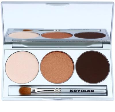 Kryolan Basic Eyes paleta de sombras de ojos con espejo y aplicador