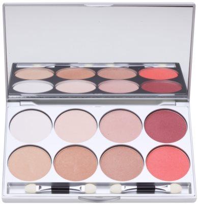 Kryolan Basic Eyes paleta de sombras com 8 cores com espelho e aplicador
