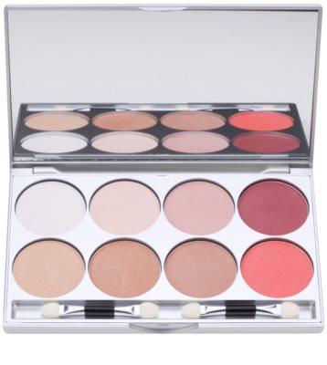 Kryolan Basic Eyes paleta de sombras de ojos 8 colores con espejo y aplicador