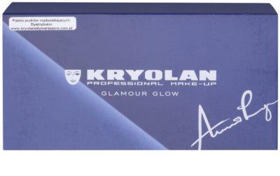 Kryolan Basic Eyes палетка тіней для повік 8 кольорів з дзеркальцем та аплікатором 2