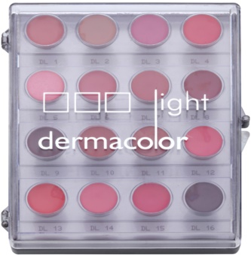 Kryolan Dermacolor Light paletta 16 árnyalatú rúzs