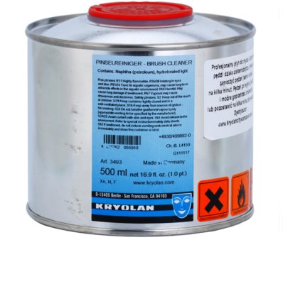 Kryolan Basic Removal antibakteriální čistič na štětce velké balení 1