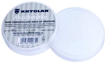 Kryolan Basic Removal demachiant vaselina asupra machiajului  durabil pachet mic 1