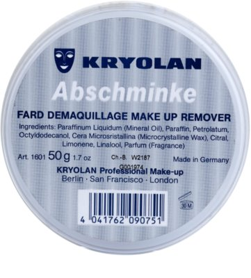 Kryolan Basic Removal vaselina para desmaquillar el maquillaje resistente pack pequeño 2