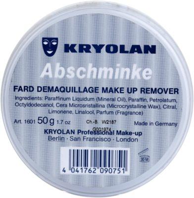 Kryolan Basic Removal demachiant vaselina asupra machiajului  durabil pachet mic 2