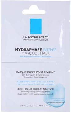 La Roche-Posay Hydraphase beruhigende feuchtigkeitsspendende Maske für empfindliche und trockene Haut
