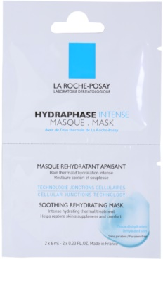 La Roche-Posay Hydraphase pomirjajoča vlažilna maska za občutljivo in suho kožo
