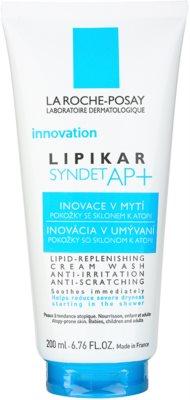La Roche-Posay Lipikar Syndet AP+ gel de limpeza cremoso contra prurido e irritação de pele
