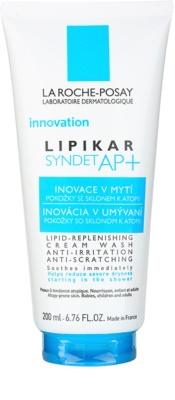La Roche-Posay Lipikar Syndet AP+ krémes tisztító gél irritáció és viszketés ellen
