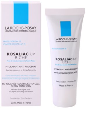 La Roche-Posay Rosaliac UV Riche подхранващ успокояващ крем за чувствителна кожа, склонна към зачервяване SPF 15 1