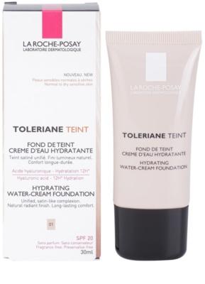 La Roche-Posay Toleriane Teint base cremosa hidratante  para pele normal a seca 2