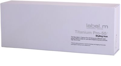 label.m Electrical Titanium Pro-50 White plancha de pelo 3