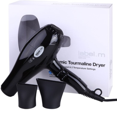 label.m Electrical Ceramic Tourmaline Dryer Black uscator de par 2