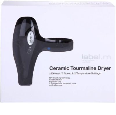 label.m Electrical Ceramic Tourmaline Dryer Black uscator de par 3