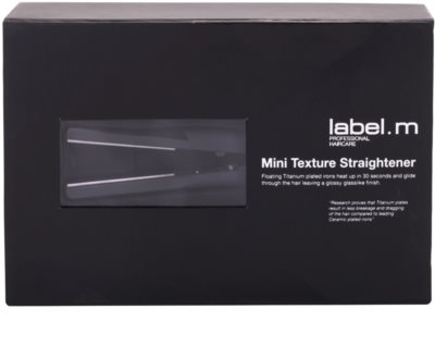 label.m Electrical Mini Texture Straightener placa de par mini 3