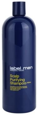 label.m Men очищуючий шампунь для волосся та шкіри голови