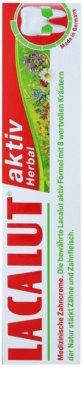 Lacalut Aktiv Herbal pasta para fortalecer los dientes y las encías 3