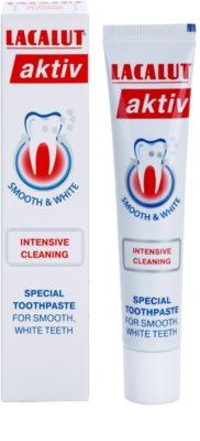 Lacalut Aktiv Intensive Cleaning pasta de dientes para eliminar sangrado de encías y piorrea 1