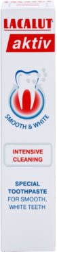 Lacalut Aktiv Intensive Cleaning Zahnpasta gegen Zahnfleischbluten und Parodontose mit glättender und bleichender Wirkung 2
