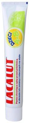 Lacalut Junior dentífrico para o período da passagem de dentes de leite a permanentes