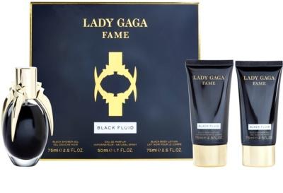 Lady Gaga Fame Black Fluid dárková sada