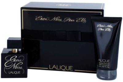 Lalique Encre Noire Pour Elle set cadou