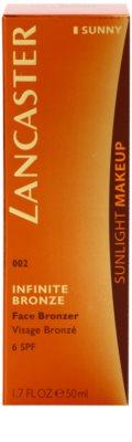 Lancaster Infinite Bronze gel bronzeador para o rosto SPF 6 2