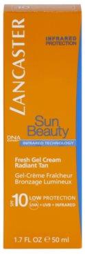 Lancaster Sun Beauty napozó hidratáló géles krém SPF 10 2