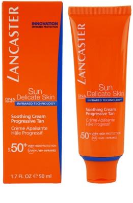 Lancaster Sun Delicate Skin creme solar facial SPF 50+ 1