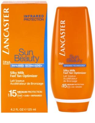 Lancaster Sun Beauty шовковисте сонцезахисне молочко SPF 15 1