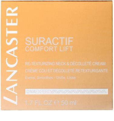Lancaster Suractif Comfort Lift crema regeneratoare anti-imbatranire pentru gat si decolteu 2