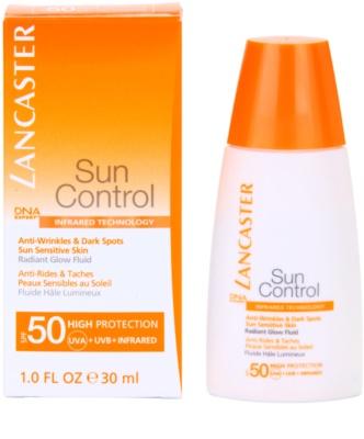 Lancaster Sun Control Anti-Aging Sonnenfluid für strahlenden Glanz SPF 50 1