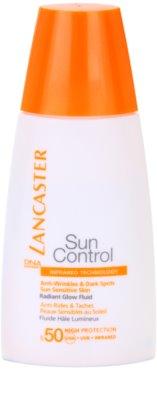 Lancaster Sun Control csillogó ráncellenes napozó fluid SPF 50