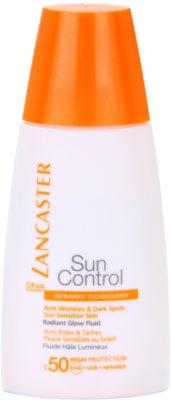 Lancaster Sun Control fluido bronceador antiarrugas con efecto iluminador  SPF 50